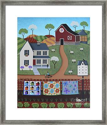 Seasons Of Rural Life - Spring Framed Print