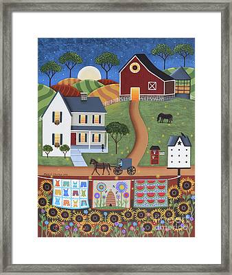 Seasons Of Rural Life - Summer Framed Print by Mary Charles