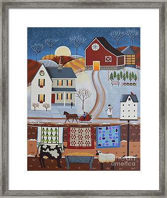 Seasons Of Rural Life - Winter Framed Print by Mary Charles