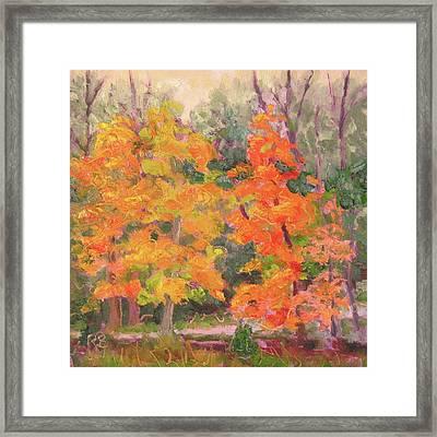 Seasons Punchline Framed Print
