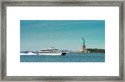 Seastreak Ferry Framed Print by Kenneth Cole