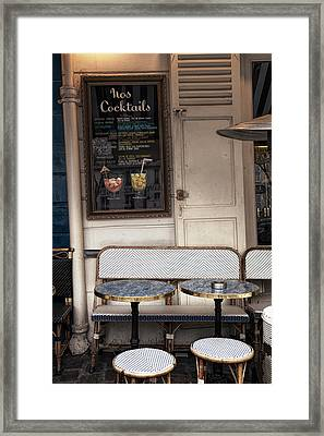 Seat For Two Framed Print by Andrew Soundarajan