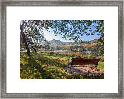 Seat With A View Oil Painting Style Framed Print