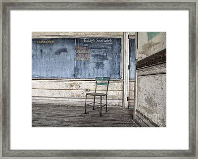 Framed Print featuring the mixed media Seat Work by Terry Rowe