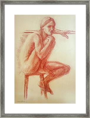 Seated At The Barre Framed Print by Sarah Parks