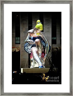 Seated Ballerina Rockefeller Plaza 5 Framed Print by Nishanth Gopinathan