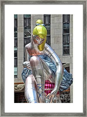 Seated Ballerina Rockefeller Plaza 6 Framed Print by Nishanth Gopinathan