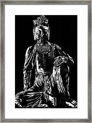Seated Buddha Framed Print by Ashley Kujan