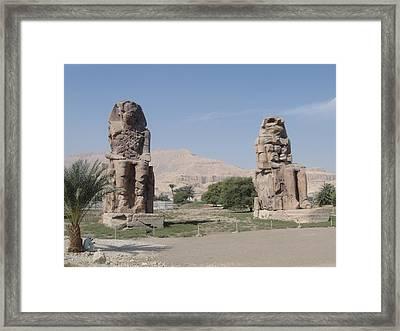 Seated Egyptian Framed Print by Richard Deurer