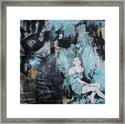 Seated Fairy With Hand 2 Framed Print by Joanne Claxton