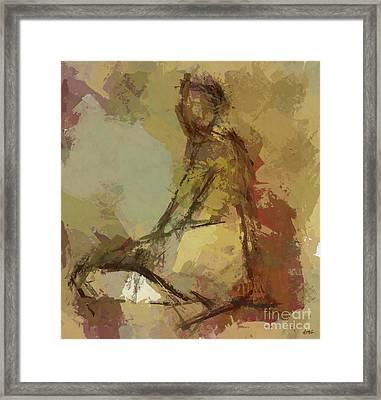 Seated Figure Framed Print by Dragica Micki Fortuna