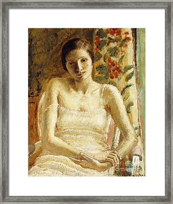 Seated Figure Framed Print