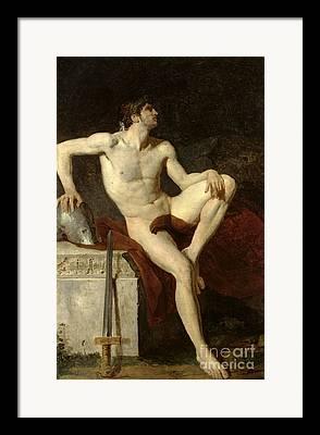 Gladiateur Assis Framed Prints