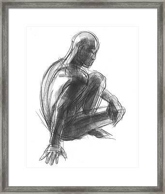 Seated Male Figure Study Framed Print