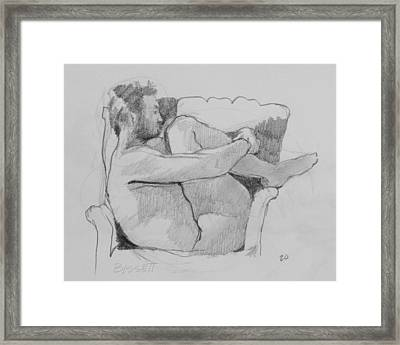 Seated Nude 1 Framed Print by Robert Bissett