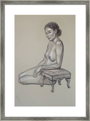 Seated Nude 3 Framed Print by Donelli  DiMaria