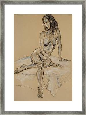 Seated Nude 4 Framed Print by Donelli  DiMaria