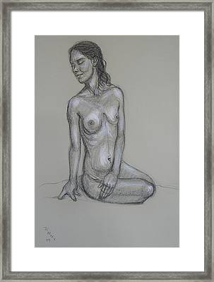 Seated Nude 6 Framed Print by Donelli  DiMaria