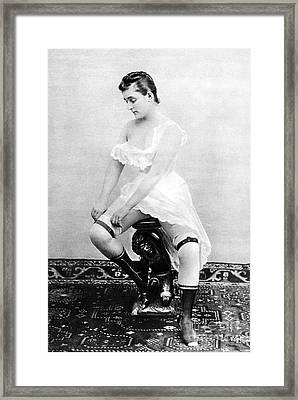 Seated Nude, C1885 Framed Print by Granger