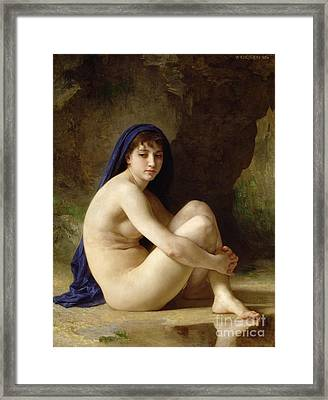 Seated Nude Framed Print by William Adolphe Bouguereau
