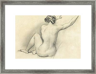 Seated Nude Framed Print by William Edward Frost