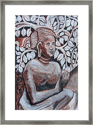 Framed Print featuring the painting Seated Women In Javanse Manner by Anand Swaroop Manchiraju