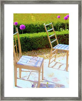 Seating Arrangement Framed Print