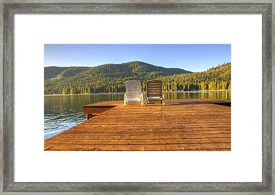 Seating For Two  Framed Print