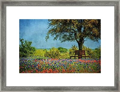 Framed Print featuring the photograph Seating For Two by Ken Smith