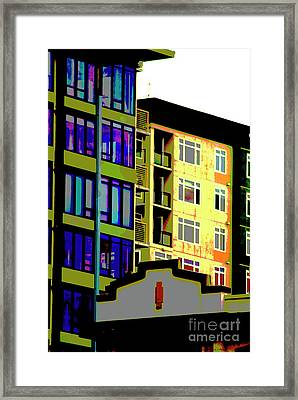 Framed Print featuring the photograph Seattle Architecture by Yulia Kazansky