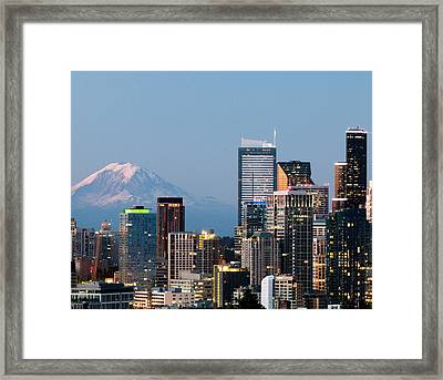 Seattle At First Light II Framed Print
