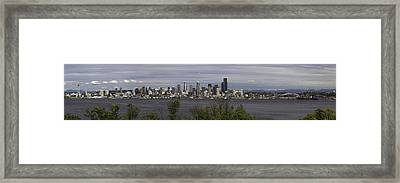 Seattle At Its Best Framed Print