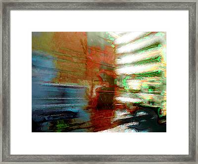 Framed Print featuring the photograph Seattle By Train by Lori Seaman