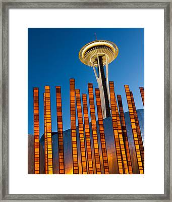Seattle Center Twilight Framed Print