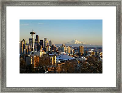 Seattle Cityscape Framed Print