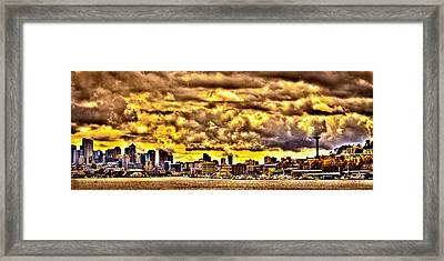 Seattle Cityscape IIi Framed Print by David Patterson