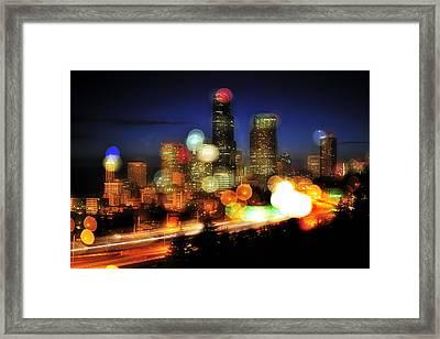 Seattle Color Spots C086 Framed Print by Yoshiki Nakamura