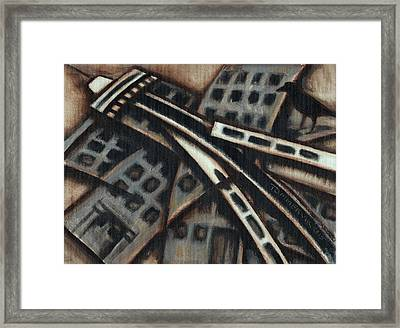 Framed Print featuring the painting Tommervik Seattle Downtown Art Print by Tommervik