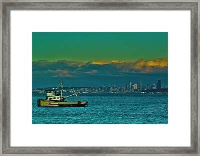 Seattle Evening Framed Print by Dale Stillman