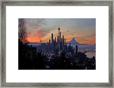 Seattle Fantasia A073 Framed Print by Yoshiki Nakamura