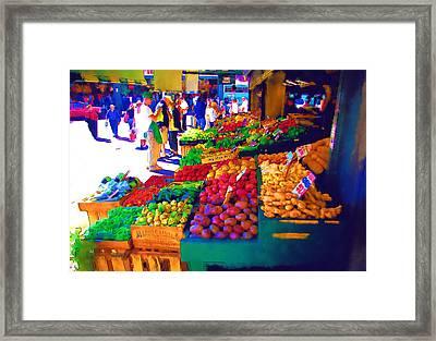 Seattle Farmers Market 2 Framed Print