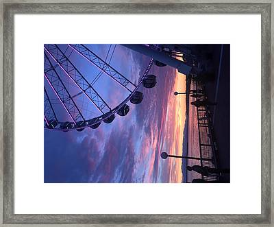 Seattle Ferris Wheel Framed Print