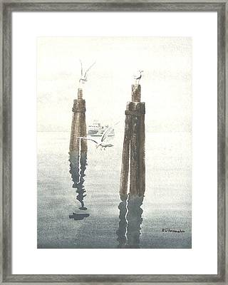 Seattle Ferry Framed Print by Robert Thomaston