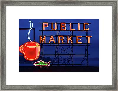 Seattle Glow Framed Print by Todd Klassy