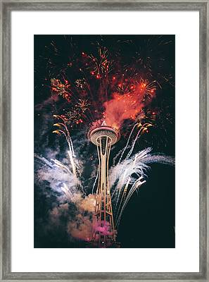 Seattle Framed Print by Happy Home Artistry