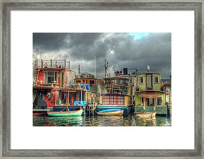 Seattle Houseboats Fine Art Photograph Framed Print