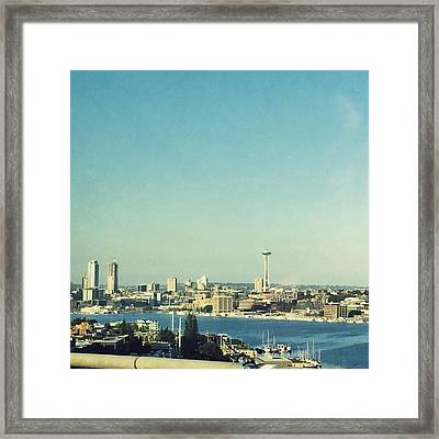 Seattle In The Morning #seattle Framed Print