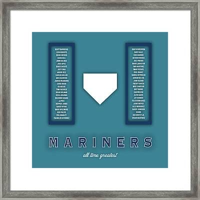 Seattle Mariners Art - Mlb Baseball Wall Print Framed Print