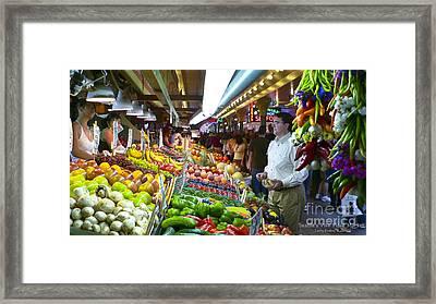 Seattle Market  Framed Print by Larry Keahey