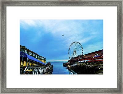 Seattle Pier 57 Framed Print